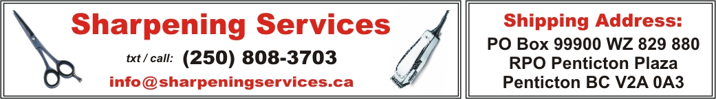 Sharpening Services : 250 • 808 • 3703